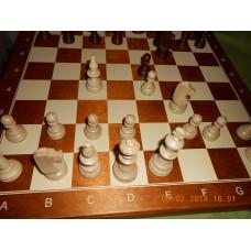 Turnier Nr. 4  - Schachkassette Rand braun